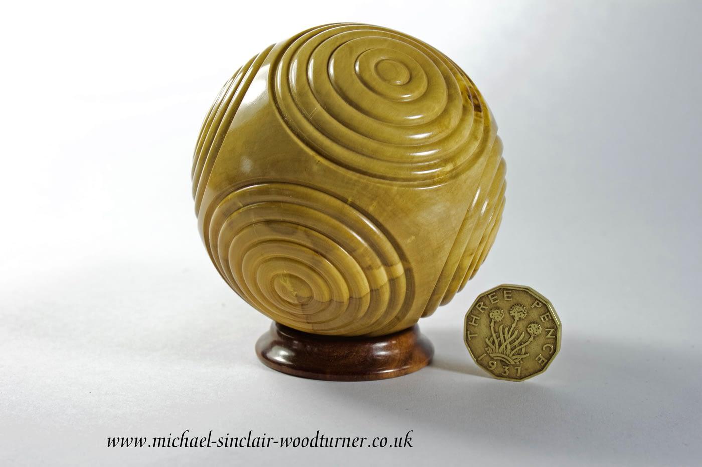 Boxwood 'Neolithic Petrosphere' inspired piece.