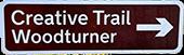 Creative trail woodturner